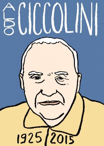 mort d'aldo ciccolini, dessin, portrait, laurent jacquy,répertoire des macchabbées célèbres, mort d(homme