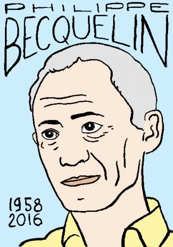 mort de philippe becquelin, dessin, portrait, laurent jacquy,répertoire des macchabées célèbres,mort d'homme,