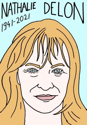 mort de Nathalie Delon,dessin,portrait,laurent Jacquy