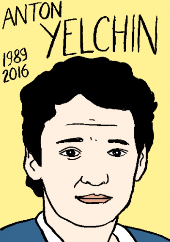 mort d'anton Yelchi, dessin, portrait, laurent jacquy,répertoire des macchabées célèbres,mort d'homme,image libre de droit