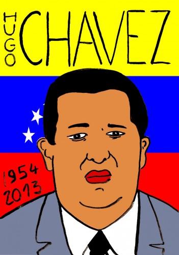 Hugo Chavez,Portrait,dessin,laurent Jacquy,french Outsideur,Célébrité,mort,répertoire des macchabées célèbres,décés,mort d'homme,illustrateur,illustration,Les Beaux Dimanches