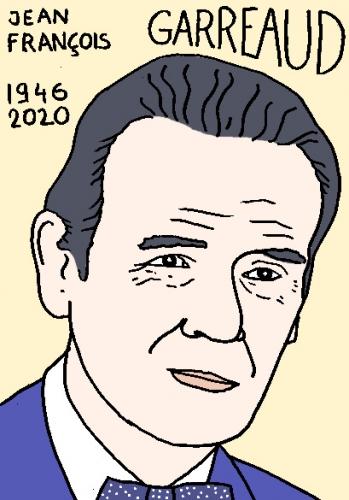 mort de Jean-François Garreaud, dessin, portrait, laurent jacquy,répertoire des macchabées célèbres,mort d'homme,