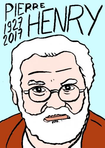 mort de pierre Henry, dessin, portrait, laurent jacquy,répertoire des macchabées célèbres,mort d'homme,