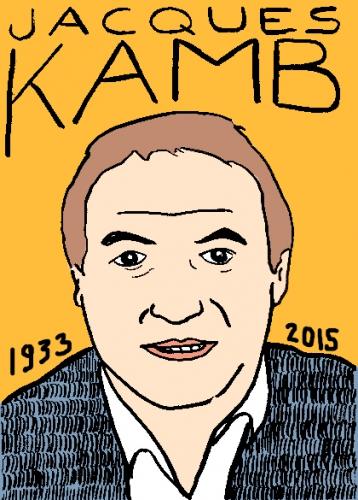 mort de Jacques Kamb, dessin, portrait, laurent jacquy,répertoire des macchabbées célèbres, mort d(homme