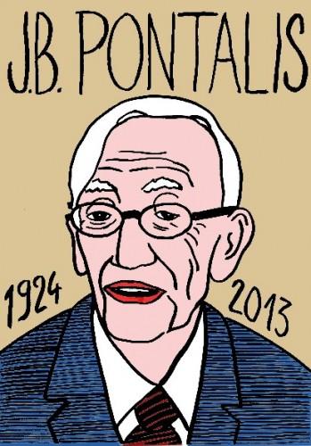 JB Pontalis,Portrait,dessin,laurent Jacquy,french Outsideur,Célébrité,mort,répertoire des macchabées célèbres,décés,illustrateur,illustration