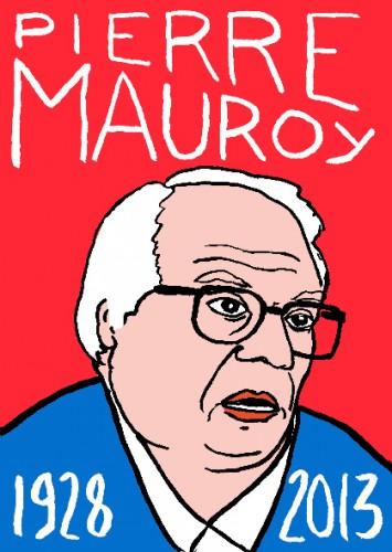 Pierre Mauroy,dessin,portrait,art singulier,art modeste,Laurent Jacquy,Mort d'homme,les beaux dimanches