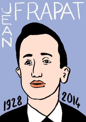 mort de jean frapat,dessin,portrait,laurent Jacquy,répertoire des macchabées célèbres