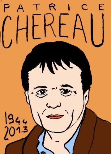 mort de patrice chéreau, dessin,portrait,laurent jacquy,mort d'homme,répertoire de macchabées célèbres,art modeste,art singulier