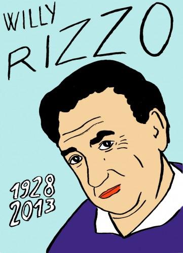 Willy Rizzo,Portrait,dessin,laurent Jacquy,french Outsideur,Célébrité,mort,répertoire des macchabées célèbres,décés,mort d'homme,illustrateur,illustration,Les Beaux Dimanches