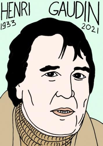 mort d'henri Gaudin,dessin,portrait,laurent Jacquy