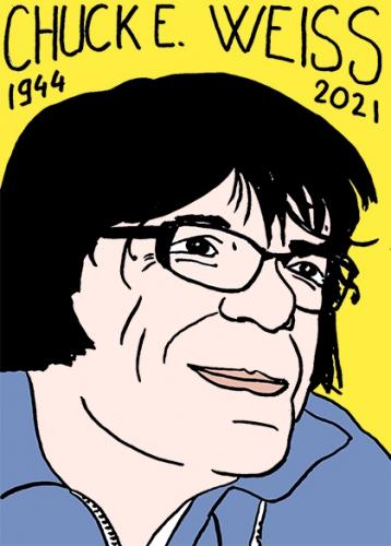 mort de Chuck E. Weiss,dessin,portrait,laurent Jacquy