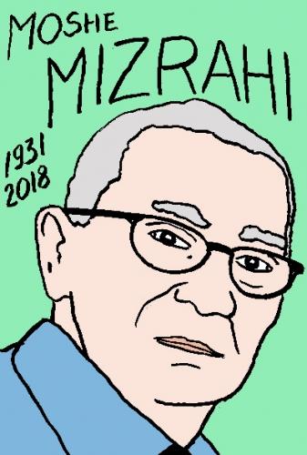 mort de moshé mizrahi, dessin, portrait, laurent jacquy,répertoire des macchabées célèbres,mort d'homme,