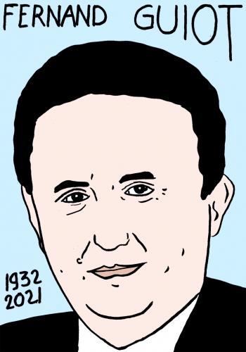 mort de Fernand Guiot,dessin,portrait,laurent Jacquy