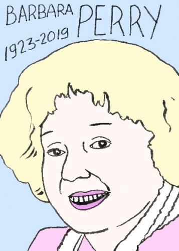 mort de Barbara perry, dessin, portrait, laurent jacquy,répertoire des macchabées célèbres,mort d'homme,