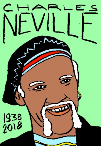 mort de Charles Neville, dessin, portrait, laurent jacquy,répertoire des macchabées célèbres,mort d'homme,