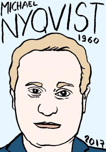 mort de michael Nyqvist, dessin, portrait, laurent jacquy,répertoire des macchabées célèbres,mort d'homme,