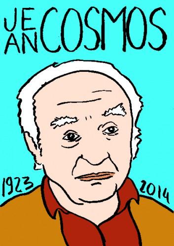 mort de jean Cosmos,dessin,portrait,laurent jacquy,répertoire des macchabées célèbres