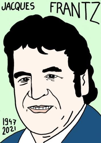 mort de Jacques Frantz,dessin,portrait,laurent Jacquy,poésie