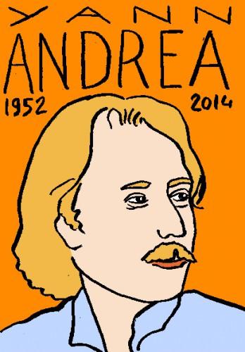 mort de yann andréa,dessin,portrait,répertoire des macchabées célèbres