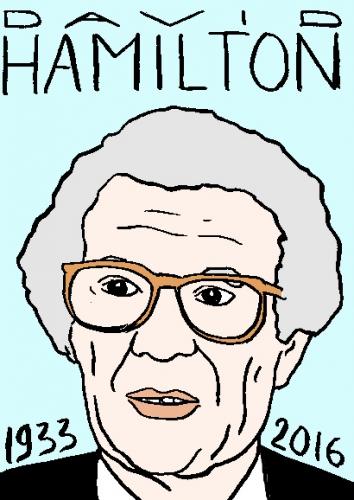 mort de david hamilton, dessin, portrait, laurent jacquy,répertoire des macchabées célèbres,mort d'homme,