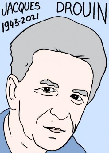 mort de Jacques Drouin,dessin,portrait,laurent Jacquy