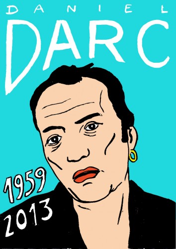 Daniel Darc,Portrait,dessin,laurent Jacquy,french Outsideur,Célébrité,mort,répertoire des macchabées célèbres,décés,mort d'homme,illustrateur,illustration,Les Beaux Dimanches
