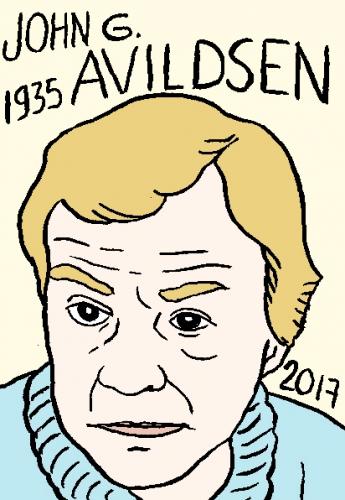 mort de John G. Avildsen, dessin, portrait, laurent jacquy,répertoire des macchabées célèbres,mort d'homme,