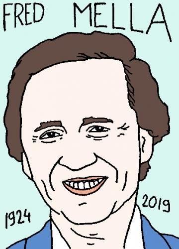 mort de Fred Mella, dessin, portrait, laurent jacquy,répertoire des macchabées célèbres,mort d'homme,