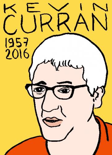 mort de kevin curran, dessin, portrait, laurent jacquy,répertoire des macchabées célèbres,mort d'homme,