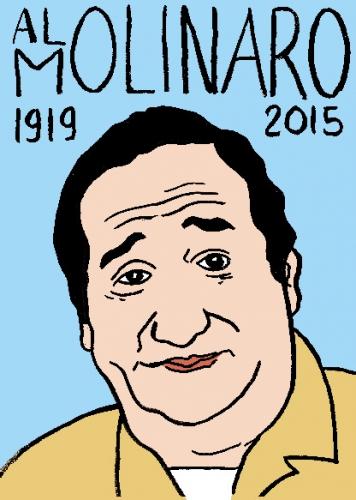 mort d'al molinaro, dessin, portrait, laurent jacquy,répertoire des macchabées célèbres,mort d'homme,