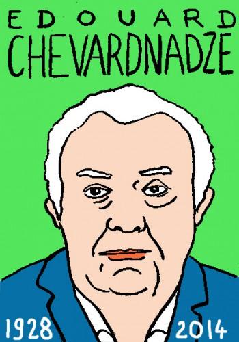 mort d'edouard chevarnadze,desssin,portrait,laurent jacquy,répertoire des macchabées célèbres