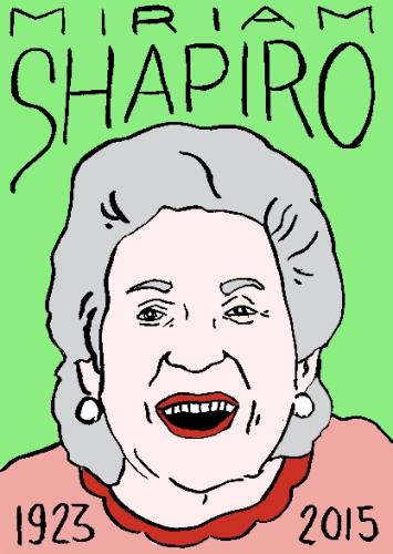 mort demiriam shapiro, dessin, portrait, laurent jacquy,répertoire des macchabbées célèbres, visage,mort d'homme