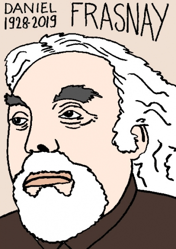 mort de Daniel Frasnay, dessin, portrait, laurent jacquy,répertoire des macchabées célèbres,mort d'homme,