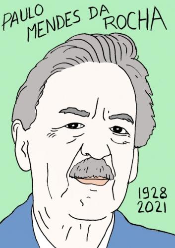 mort de Paulo Mendes Da Rocha,dessin,portrait,laurent Jacquy,architecte