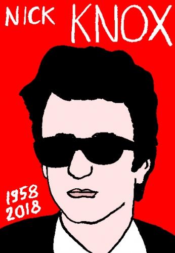 mort de Nick Knox, dessin, portrait, laurent jacquy,répertoire des macchabées célèbres,mort d'homme,