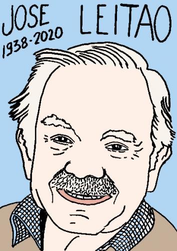 mort de José Leitao, dessin, portrait, laurent jacquy,répertoire des macchabées célèbres,mort d'homme,