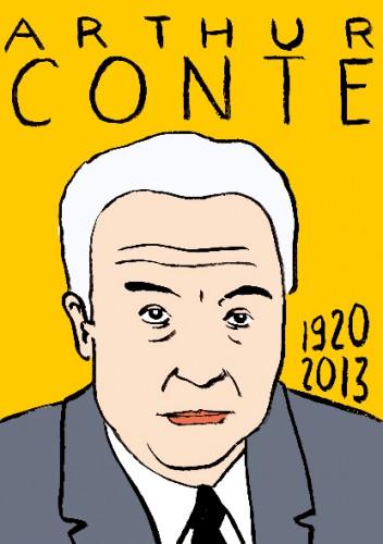 mort d'arthur conte,dessin,portrait,laurent jacquy, répertoire des macchabées célèbres,art modeste,politique