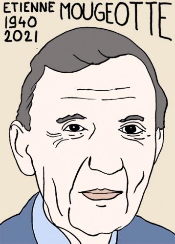 mort d'etienne Mougeotte,dessin,portrait,laurent Jacquy
