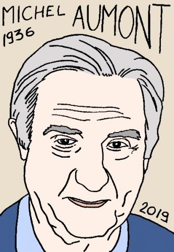 mort deMichel Aumont, dessin, portrait, laurent jacquy,répertoire des macchabées célèbres,mort d'homme,