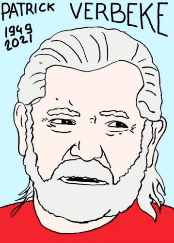 mort de Patrick Verbeke,dessin,portrait,laurent Jacquy