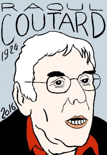 mort de raoul coutard, dessin, portrait, laurent jacquy,répertoire des macchabées célèbres,mort d'homme,