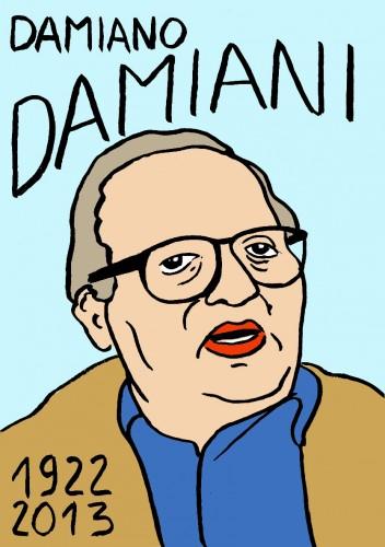 Damiano Damiani,Portrait,dessin,laurent Jacquy,french Outsideur,Célébrité,mort,répertoire des macchabées célèbres,décés,mort d'homme,illustrateur,illustration,Les Beaux Dimanches