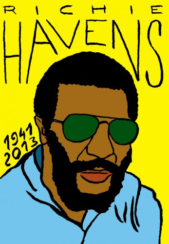 Richie Havens, portrait,dessin,Laurent Jacquy,French Outsider