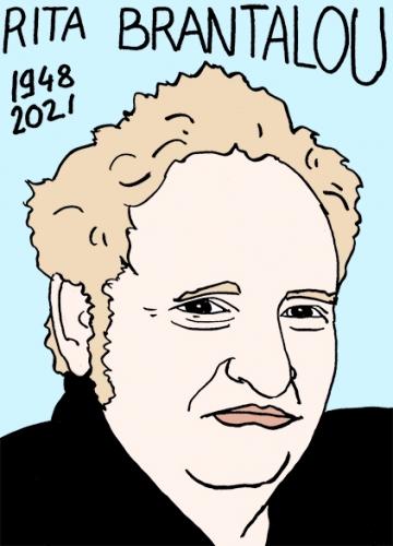 mort de Rita Brantalou,dessin,portrait,laurent Jacquy,poésie