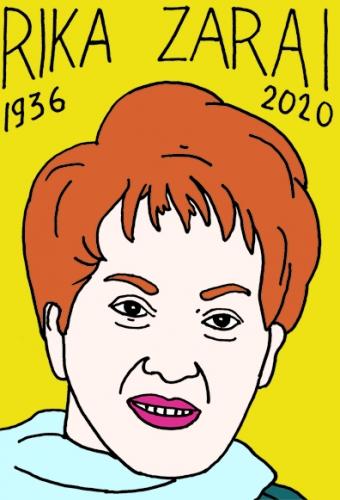 Mort de Rika Zaraï,dessin,portrait,Laurent Jacquy