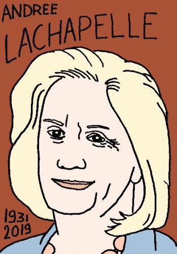 mort d'andrée Lachapelle, dessin, portrait, laurent jacquy,répertoire des macchabées célèbres,mort d'homme,