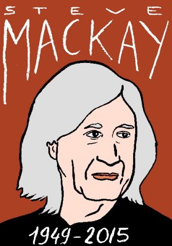 mort de steve MacKay dessin, portrait, laurent jacquy,répertoire des macchabées célèbres,mort d'homme,