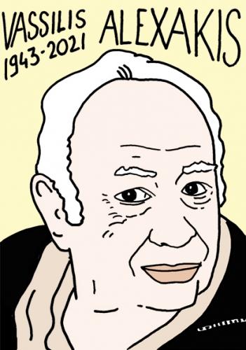 mort de Vassilis Alexakis,dessin,portrait,laurent Jacquy