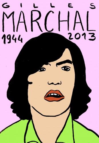 Gilles Marchal,portrait,dessin,laurent jacquy,art modeste,art singulier,les beaux dimanches