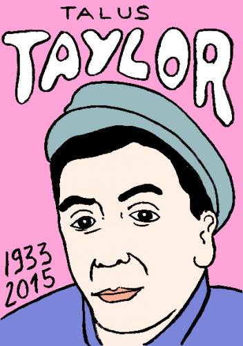 mort de Talus Taylor, dessin, portrait, laurent jacquy,répertoire des macchabbées célèbres, mort d'homme,visage